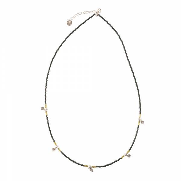 Cocoon Labradorite Silver Necklace