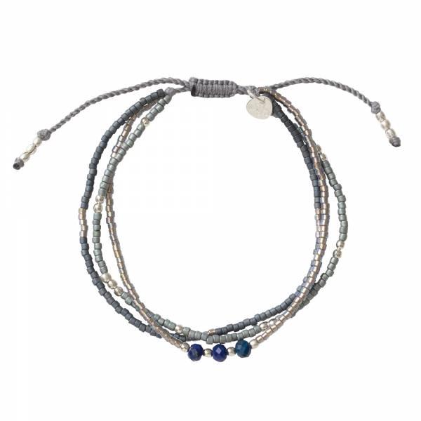 Gentle Lapis Lazuli Silver Bracelet