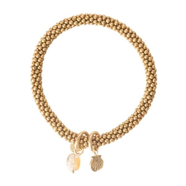 Jacky Citrin Muschel Gold Armband