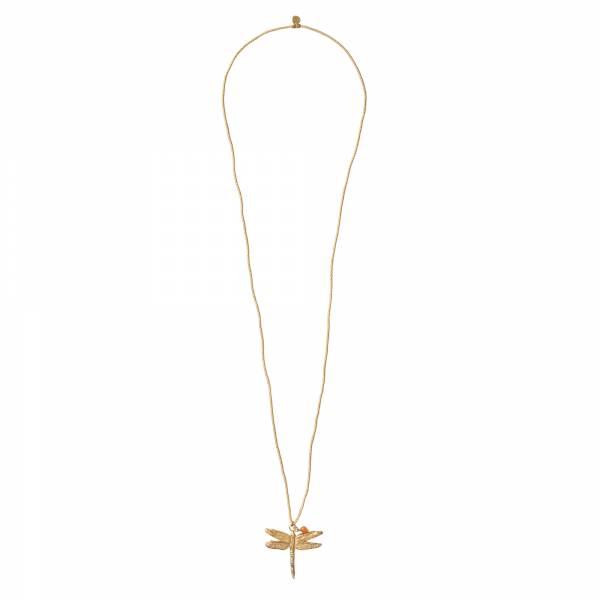 Paradise Carnelian Gold Necklace