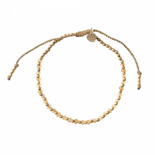 Beautiful Citrin Gold Armband