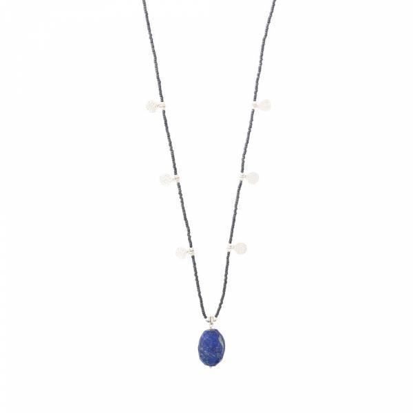 Charming Lapis Lazuli Silver Necklace
