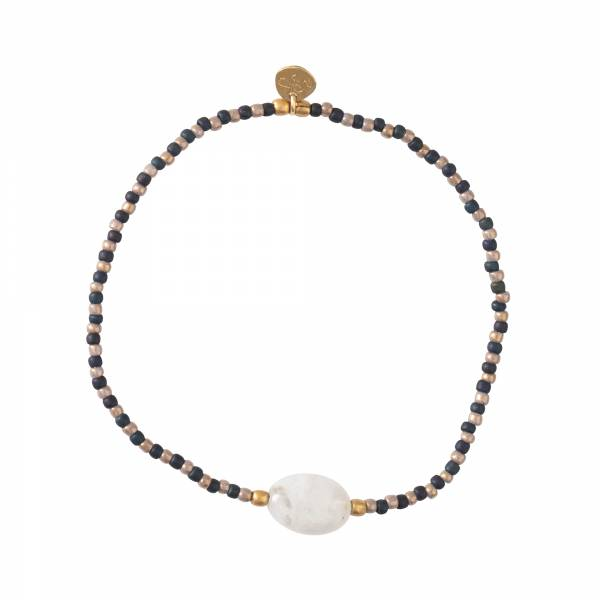 Winter Moonstone Gold Bracelet