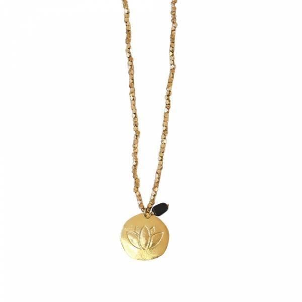 Daydream Black Onyx Lotus Necklace