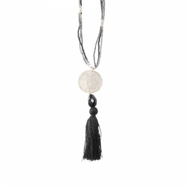 Easy Black Onyx Silver Necklace