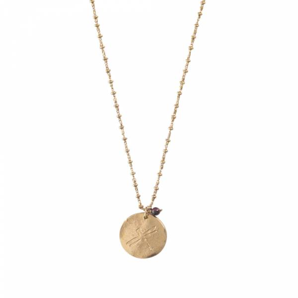 Melody Libelle Goud Ketting