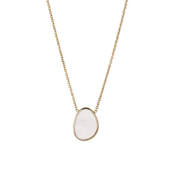 Tender Moonstone Sterling Silver Gold-Plated Necklace