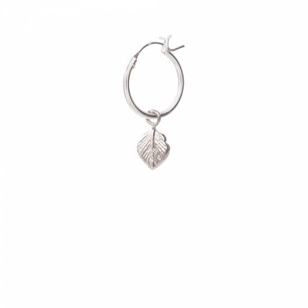 Blatt Sterlingsilber Ohrring