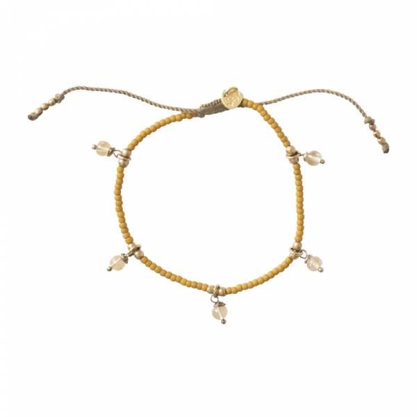 Dreamy Citrien Goud Armband