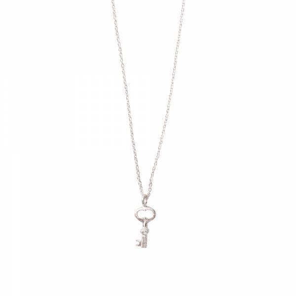 Delicate Schlüssel Silber Halskette