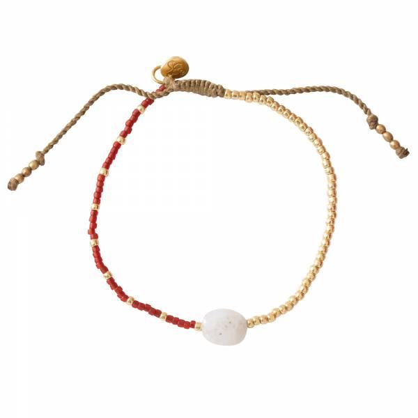 Ruby Mondstein Gold Armband