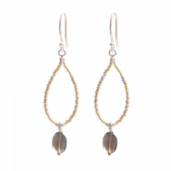 Enjoy Smokey Quartz Silver Earrings