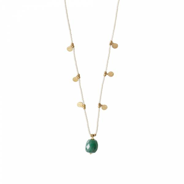 Charming Aventurine Gold necklace