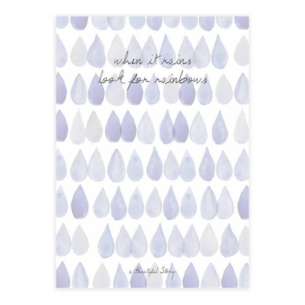 Greeting Card Raindrops