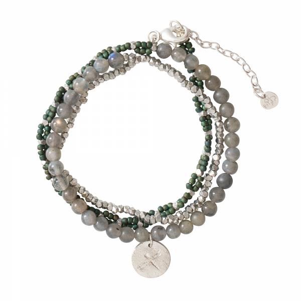 Dazzle Labradorit Silber Armband