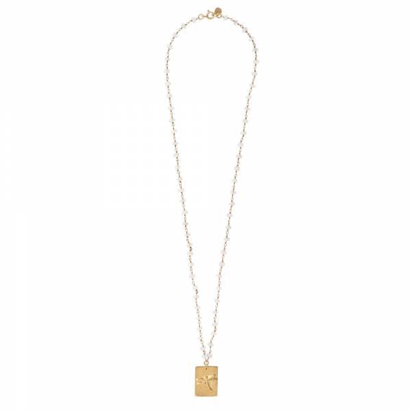Radiate Mondstein Gold Halskette