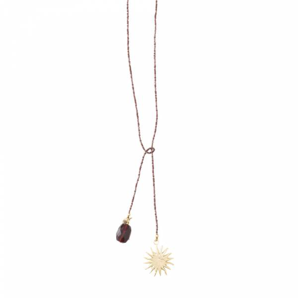 Nova Garnet Sun Gold Necklace