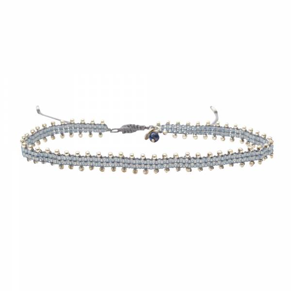 Positive Lapis Lazuli Silver Anklet