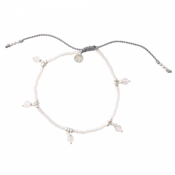 Dreamy Rose Quartz Silver Bracelet