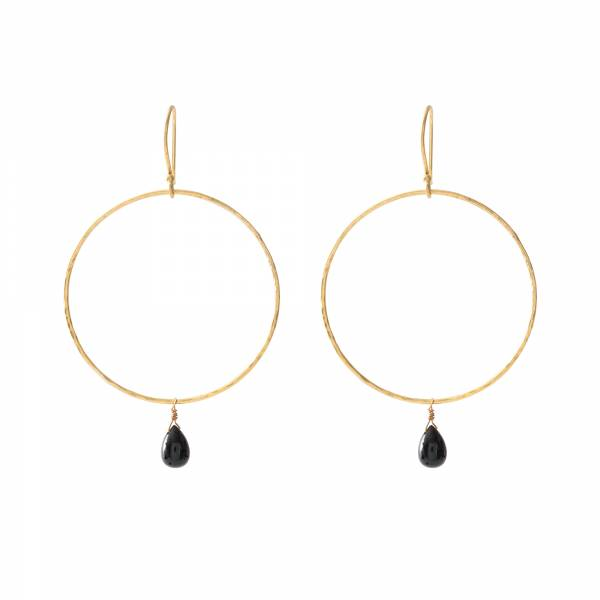 Embrace Black Onyx Gold Earrings