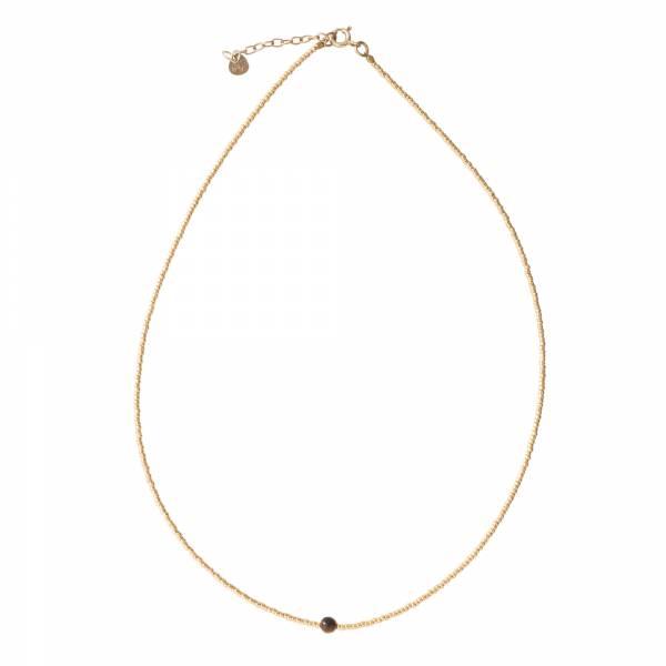 Flora Tiger Eye Gold Necklace