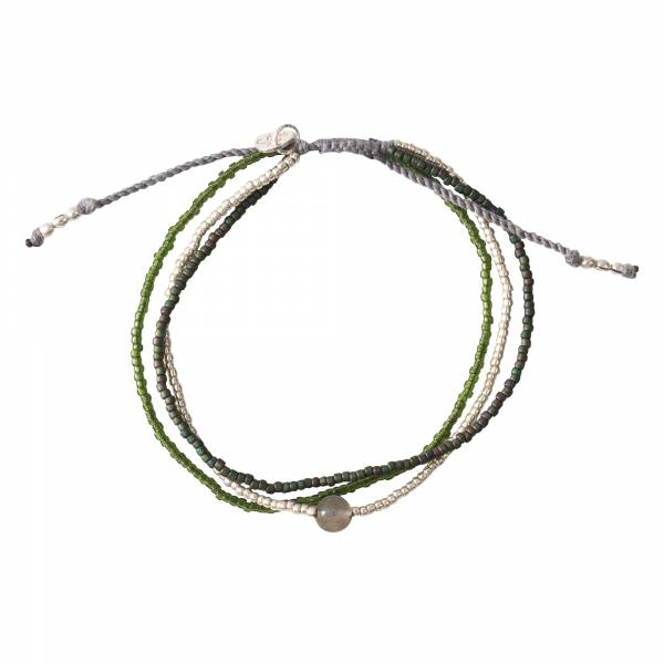 Bloom Labradorit Silber Armband