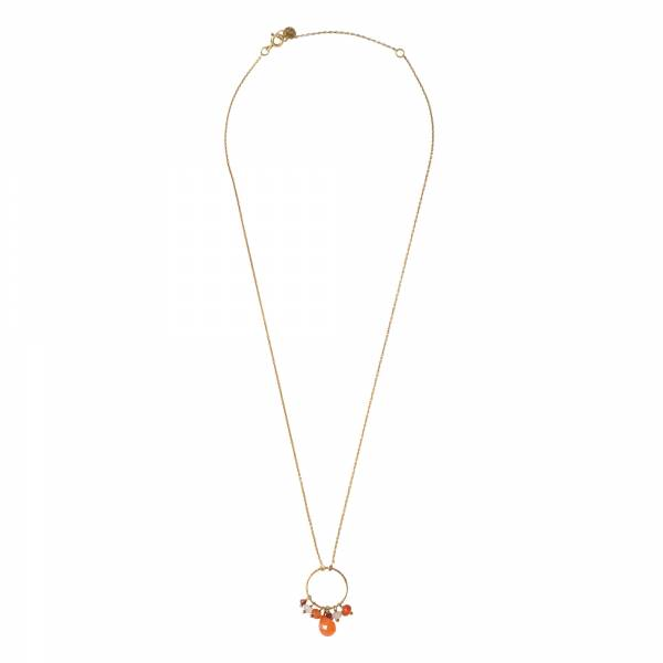Sparkles Carnelian mix Gold necklace