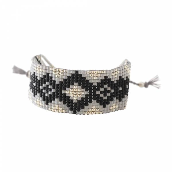 Sunset Zwarte Onyx Zilver Armband