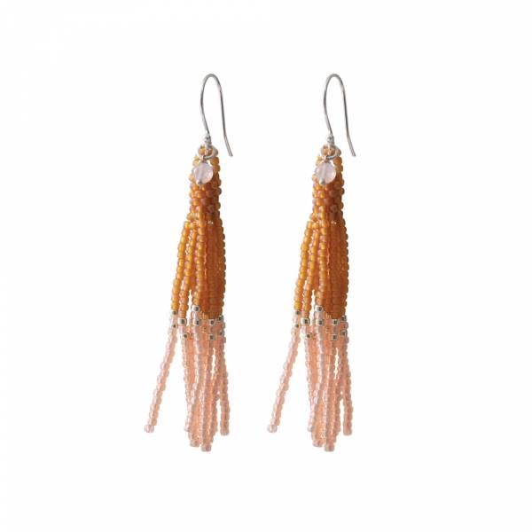 Dream Rose Quartz Silver earrings