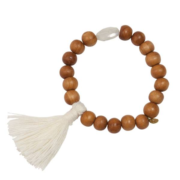 Gypsy Rainbow Moonstone sandal wood bracelet