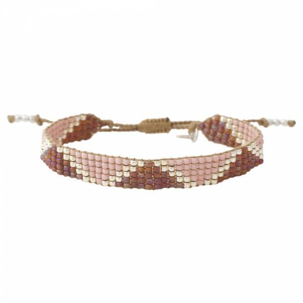 Flare Rozenkwarts Zilver Armband