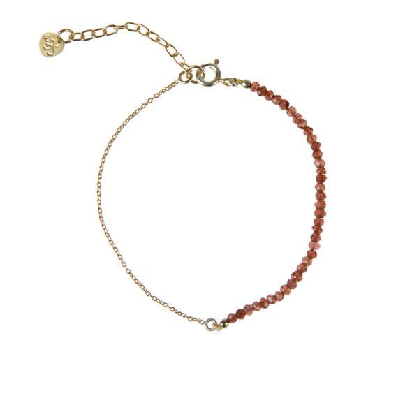 Darling Garnet Sterling Silver Gold-Plated Bracelet