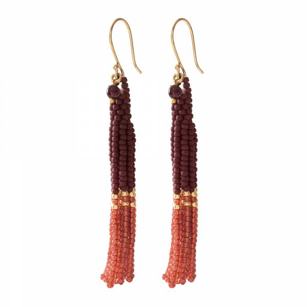 Dream Garnet Gold Earrings