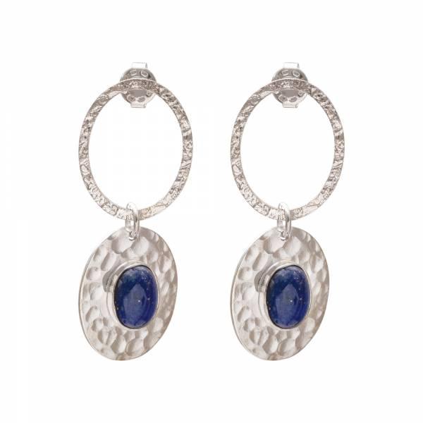 Thankful Lapis Lazuli Silver Earrings