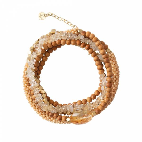 Superwrap Citrine Gold bracelet