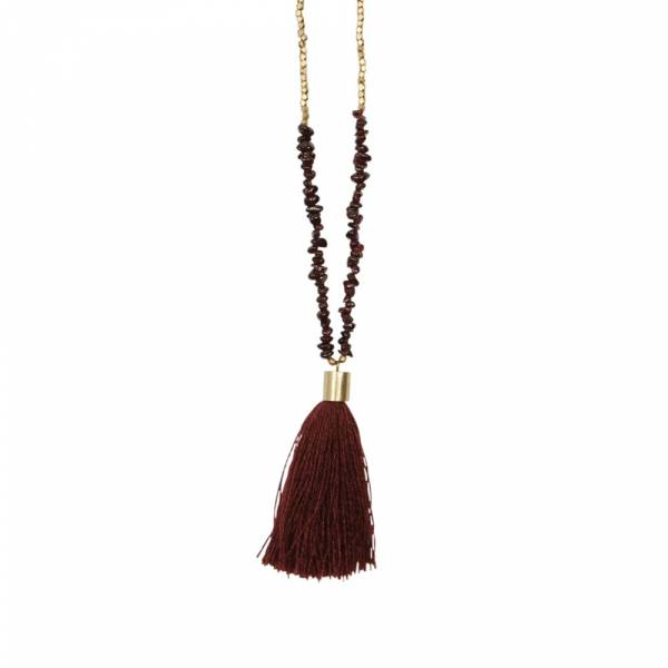Brave Garnet gold necklace