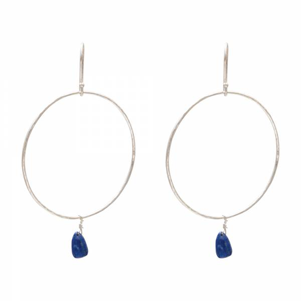 Embrace Lapis Lazuli Silver Earrings