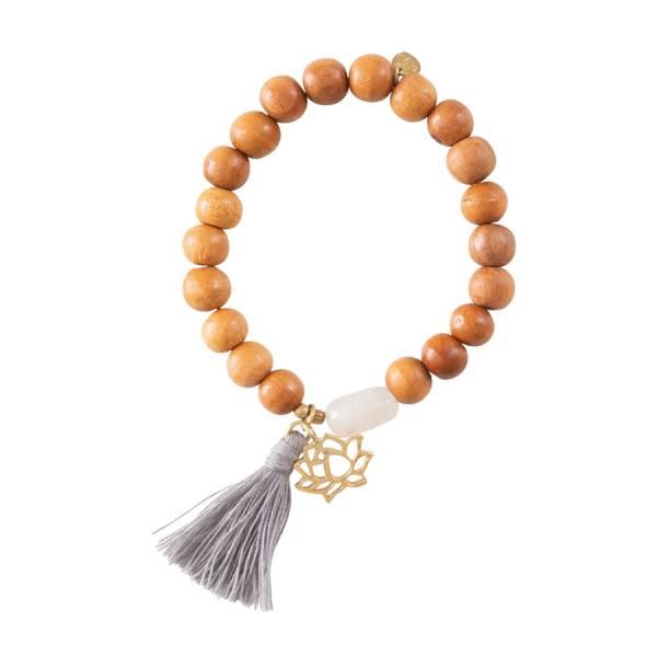 Satya Maansteen Lotus Munt Goud Armband