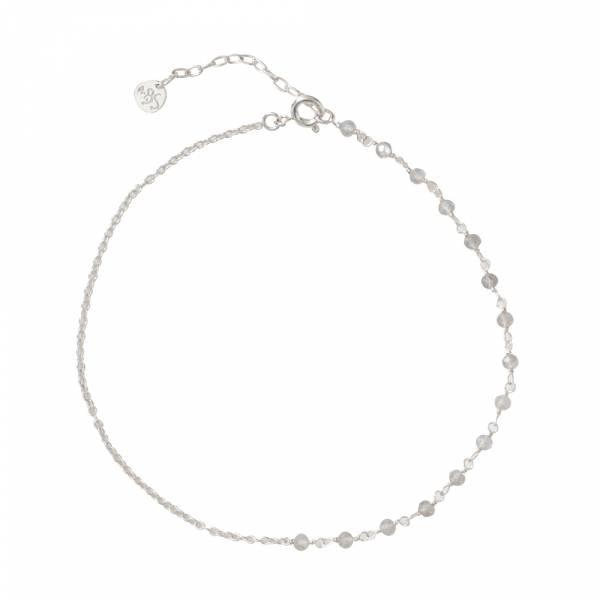 Shimmer Labradorite Sterling Silver Anklet