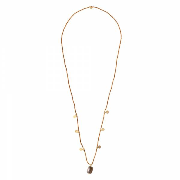 Charming Tiger Eye Gold Necklace