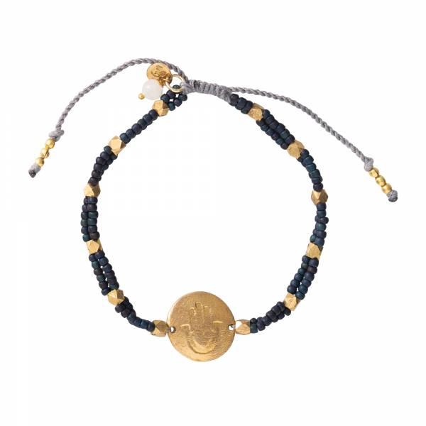 Gratitude Mondstein Gold Armband