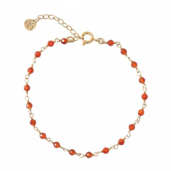 Harmony Carnelian Gold Bracelet