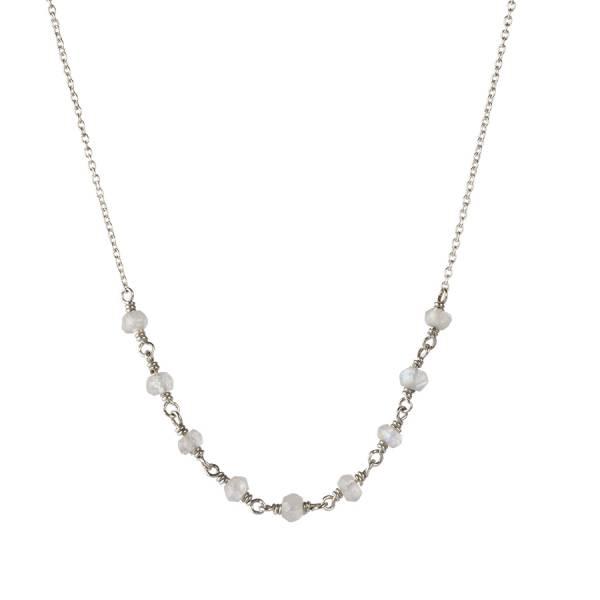 Tiny Granat Sterlingsilber vergoldete Halskette