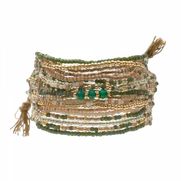 Brilliant Aventurin Gold Armband
