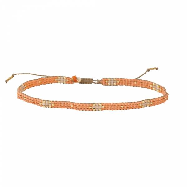 Sunflower Carnelian Gold anklet