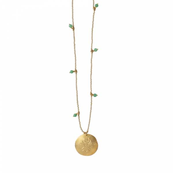 Radiant Aventurine Gold necklace