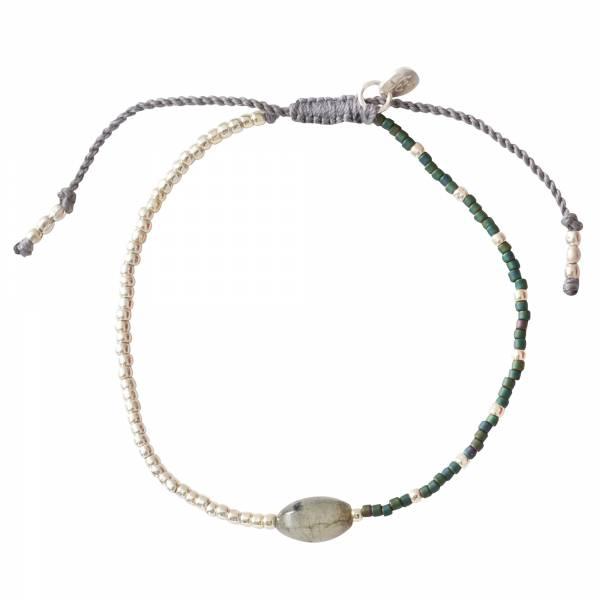 Ruby Labradorite Silver bracelet
