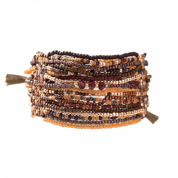 Brilliant Garnet Gold Bracelet