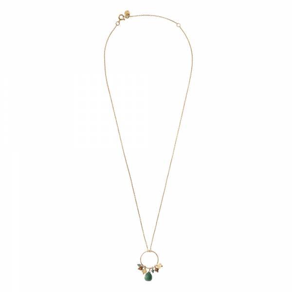 Sparkles Aventurin Mix Gold Halskette