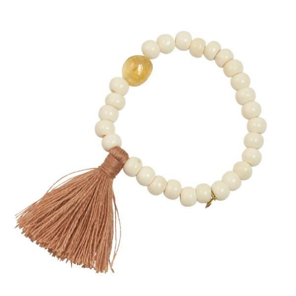 Gypsy Citrine white bone bracelet